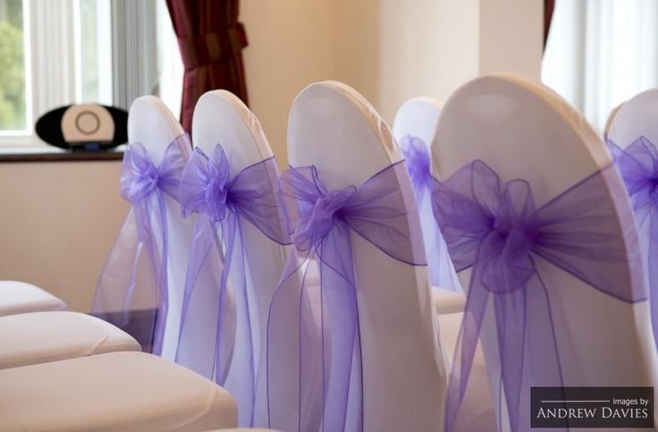 Purple wedding chair covers