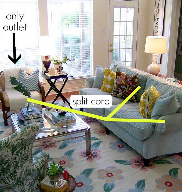 How To Split A Cord From Single Outlet Lamps In The Room Also