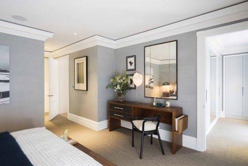 Grey, White Bedroom