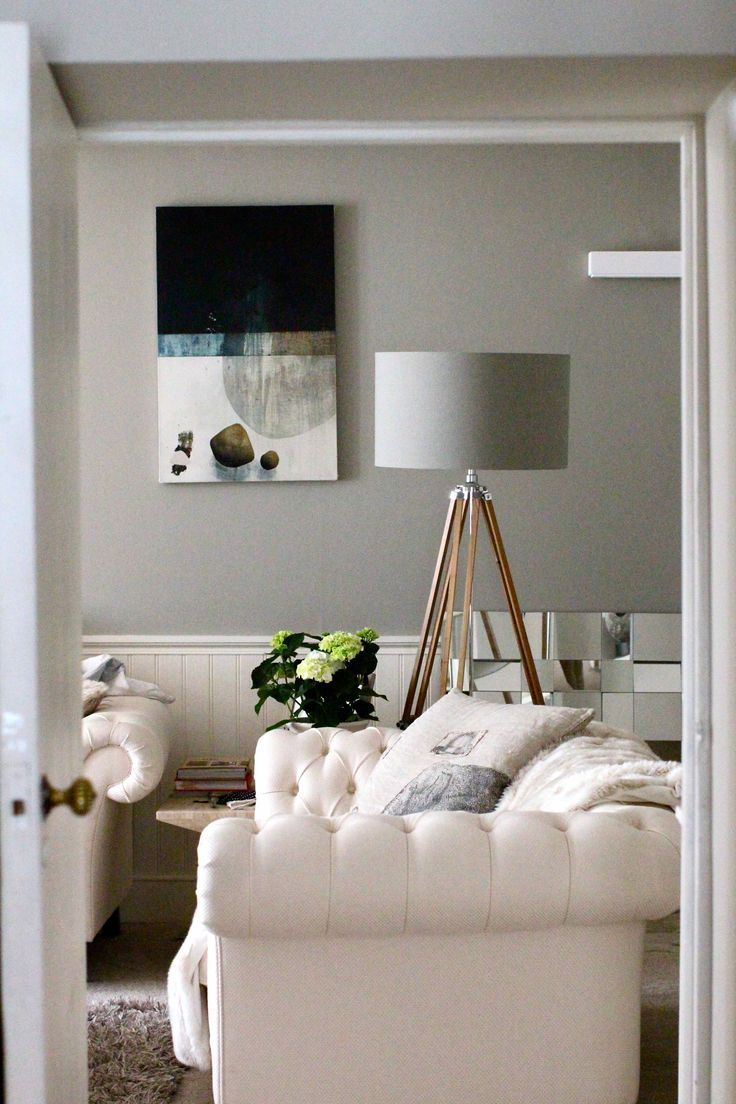 The Best Grey Paints From Modern Country Style: Farrow And Ball Manor House  Gray · Country Living RoomsLiving Room IdeasLiving ...