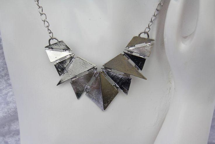 Ketten mittellang - Kette silber Statement Schmuck geometrisch - ein Designerstück von trixies-zauberhafte-Welten bei DaWanda