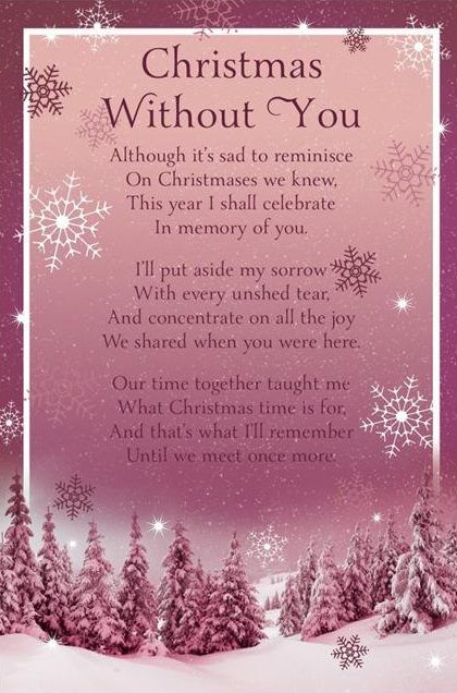 Remembering and cherishing this last Christmas memories of you, but celebrating still, the birth of our Savior with thankfulness that you are with Him! ❤️