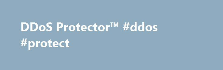 DDoS Protector™ #ddos #protect http://colorado-springs.nef2.com/ddos-protector-ddos-protect/  # DDoS Protector™ Blocks a wide range of attacks with customized multi-layered protection Behavioral protection base-lining multiple elements and blocking abnormal traffic Automatically generated and pre-defined signatures Using advanced challenge/response techniques Fast response time – protects against attacks within seconds Automatically defends against network flood and application layer attacks…