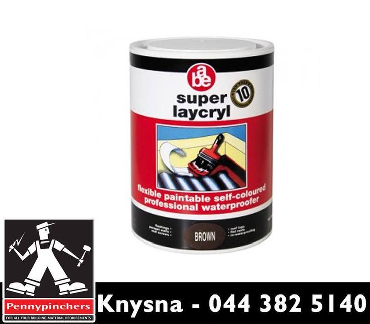 #ABE Super Laycryl, available from #PennypinchersKnysna is a highly flexible liquid applied emulsion reinforced with #abe membrane to provide a seamless professional waterproofing system. Visit us or contact us on 044 382 5140.