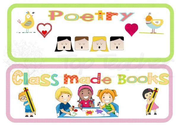 printable book genre labels for class library