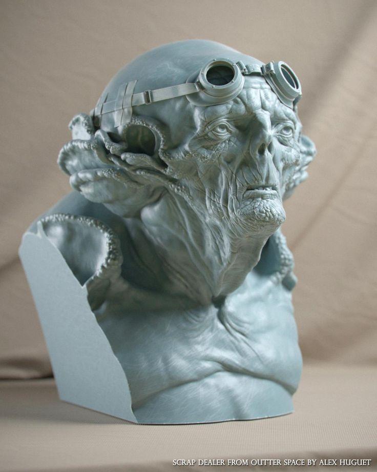scrap dealer from outter space bust by Alex Huguet | Creatures | 3D | CGSociety