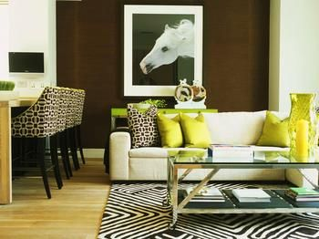 Decoración de Salas y Colores: Living Rooms, Color Palettes, Area Rugs, Black And White, Interiors Design, Decor House, Taylors How, White Hors, Olives Green