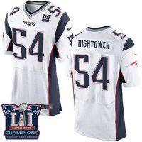 Men's New England Patriots #54 Dont'a Hightower White Super Bowl LI Champions Nen Elite Jersey