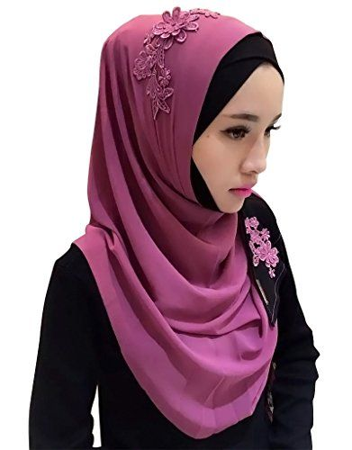 Ababalaya Womens Chiffion Fashion Color Block Hijab Scarf ShawlColor11 >>> You can get more details by clicking on the image.