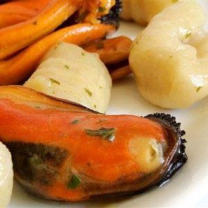 Картофель с ракушками