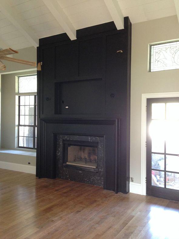 1000 Ideas About Black Brick Fireplace On Pinterest