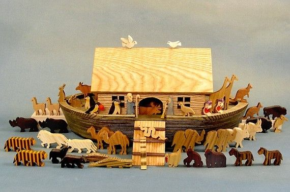 Heirloom Noah's Ark Wooden Collector's Babtism Bar and Bat Mitswa Gifts Biblical Keepsake on Etsy, $269.75