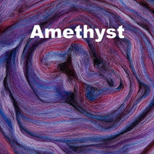 Ashland Bay offers bright and vibrant Multi-colored Merino Wool dyed fiber for spinning and felting. Their Multi-colored Merino color-ways are nature inspired. - 21.5 micron combed merino wool top Sta