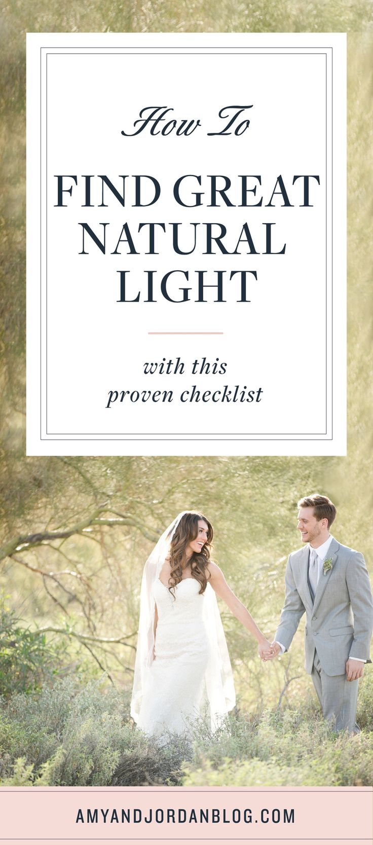 There's a misnomer that the background is the most important element of a great shot. It's important, but for us, when we're shooting, we're looking for light first. We'll teach you how to find great natural light with this proven checklist.