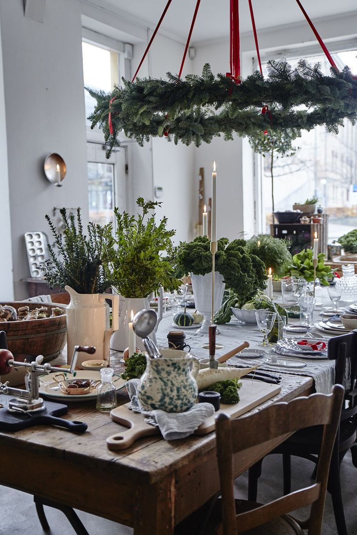 Artilleriet The Kitchen | Christmas decoration inspiration via @ScandanavianLoveSong - love the branches in white #ceramic #vases.