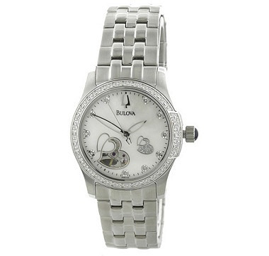 This lovely and elegant Bulova watch features 10 diamonds on the dial & 34 diamonds on the bezel for a touch of glamour.