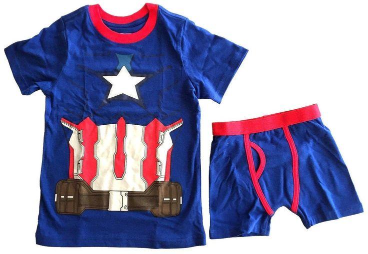 Captain America Underoos Boys Underwear 2-Piece Set