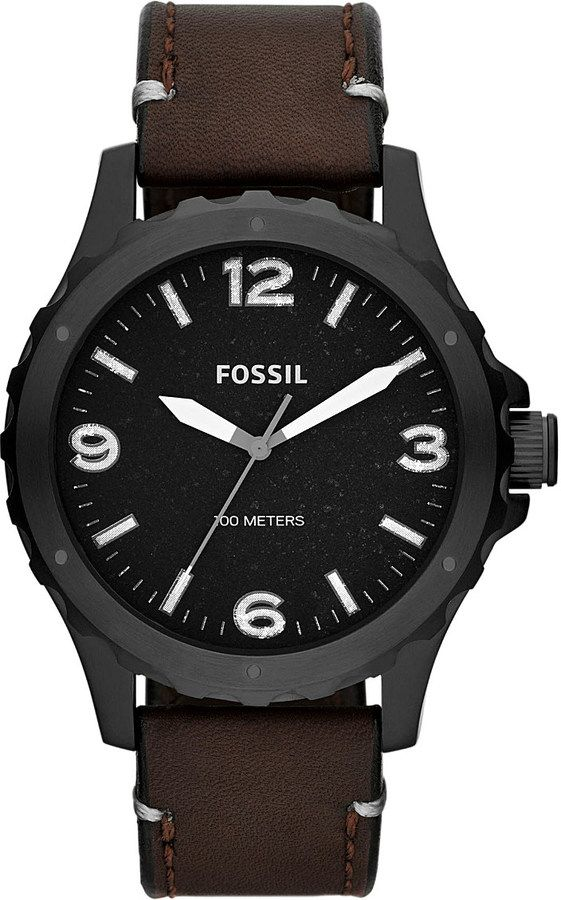 Fossil JR1450 Nate Leather Watch - for Men