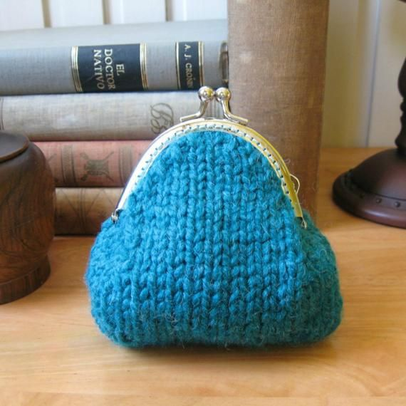 Coin Purse PDF Knitting Pattern   Etsy in 2020   Coin ...