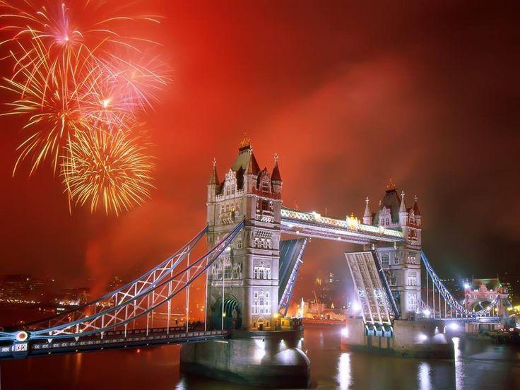 Happy New Year Tower Bridge London!