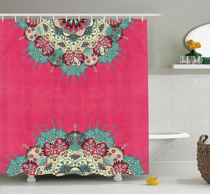>> Click to Buy << Traditional Psychedelic Bohemian Ethnic Grunge Pink Fuchsia Beige Red Violet Green Home Bathroom Design Fabric Shower Curtain #Affiliate