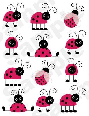 Ladybug Wall Stickers.