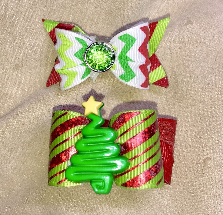 Dog Hair Bows- Christmas Tree Holidays Red Foil Glitter Dog Bow Double Elastic Bands Dog Bow Tie by CreateYourOwnDesign on Etsy https://www.etsy.com/listing/570952879/dog-hair-bows-christmas-tree-holidays