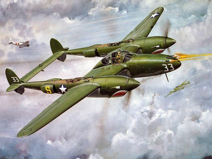 Rubber Band Plane P 38 Lightning