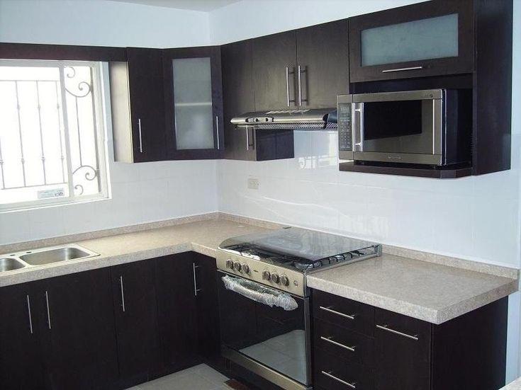 Cocina negro y blanco opaco cocinas pinterest for Revestimiento de cocina con porcelanato