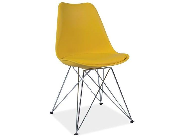 Krzesło TIM, żółte