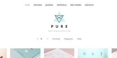 Pure, Free Portfolio Wordpress Theme