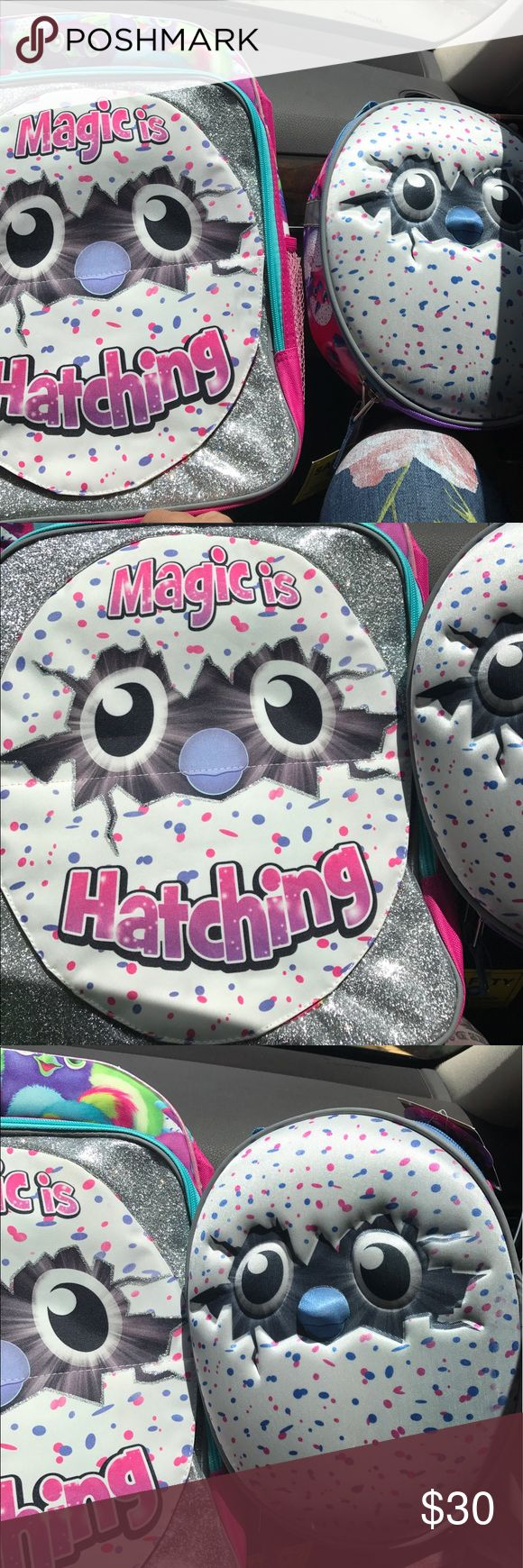 """New hatchimal backpack and lunch kit Brand new, bring book bag 16"""" and lunch kit  super cute Accessories"""