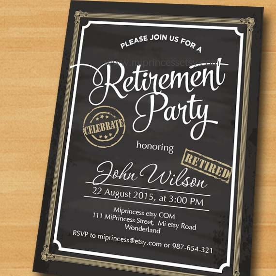 Best 25 Retirement Invitations ideas only – Retirement Party Invitations Ideas
