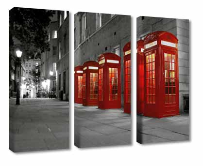 London canvas to tie in with black, white and red kitchen