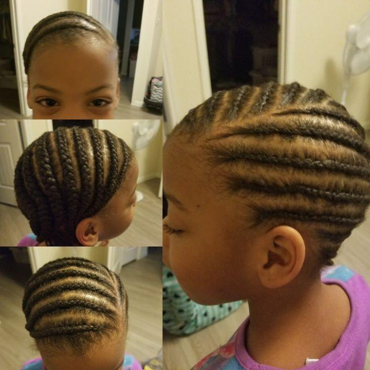 Limonadenzöpfe des kleinen Mädchens. Afroamerikanermädchen flechten Frisur.
