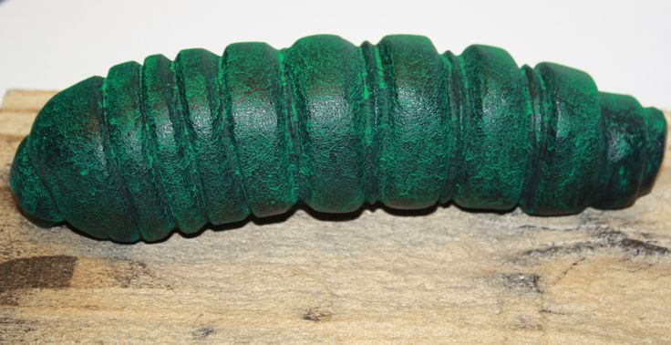 Huhu Grub  .. Verde Green Patina on silicon bronze .. Jen Waterson, 2014