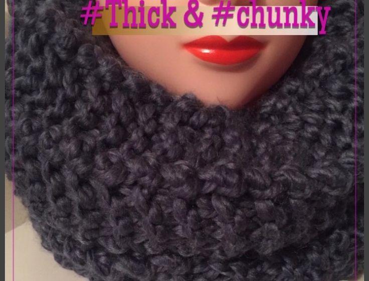 #chunkyknitstle infinity scarf #infinityscarf