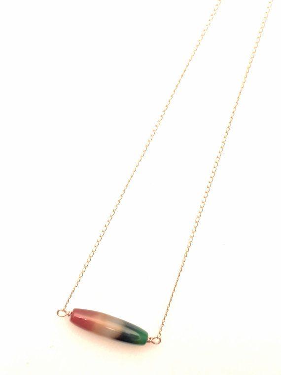 CUOREROSSO COLLANA di rame rosa con rara pietra di di Cuorerosso, €20,00