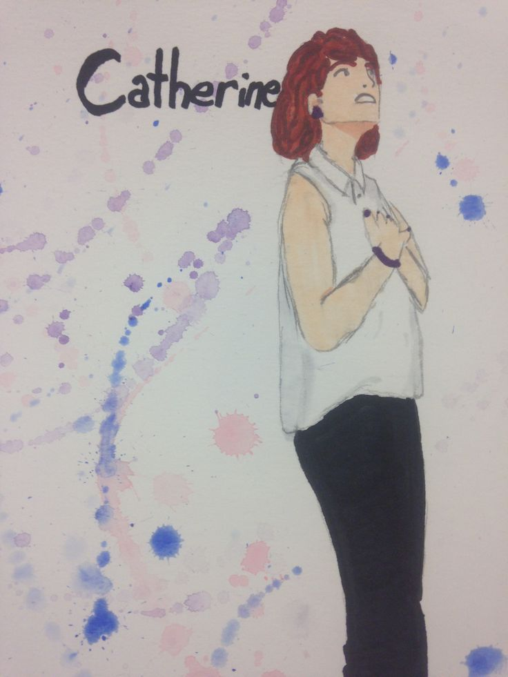 Catherine  Rendering from Elly Hunt's costume design of Theory of Relativity