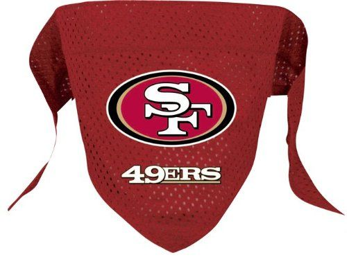 San Francisco 49ers Pet Dog Football Jersey Bandana S/M - http://www.thepuppy.org/san-francisco-49ers-pet-dog-football-jersey-bandana-sm/