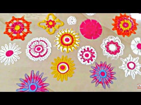Rangoli And Art: Rangoli Flowers making Techniques
