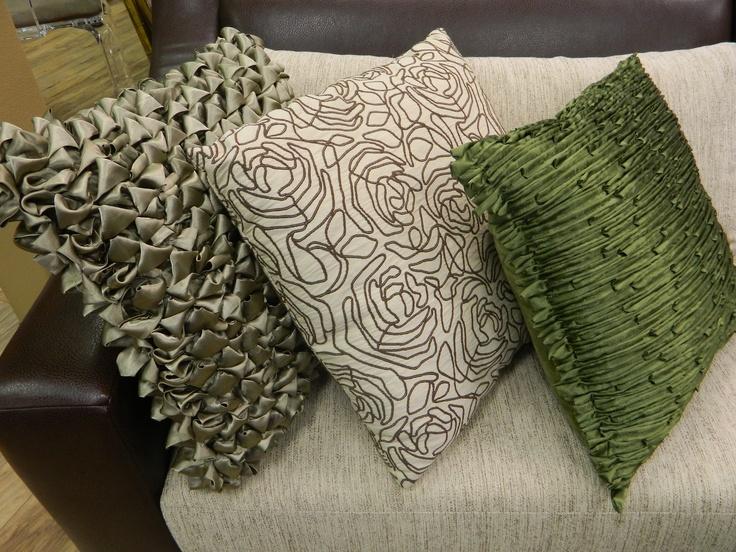 Pillows, pillows, pillows.