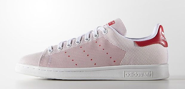 Adidas Originals Stan Smith tissu weave rouge #sneakers #stansmith #mode