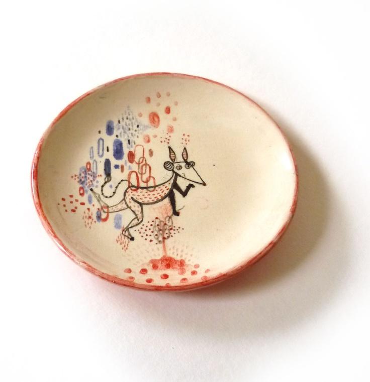 ceramic plate by mirella musri