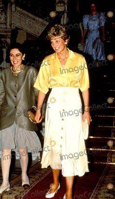 May 12, 1992:  Princess Diana with Mrs. Suzanne Mubarak