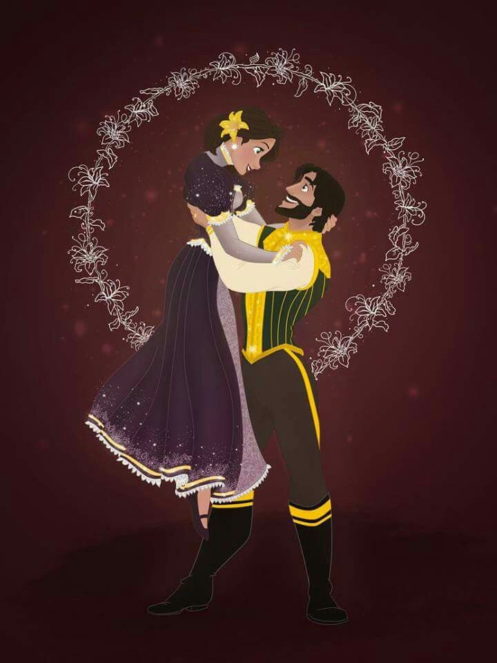 Christmas Disney Couples Best of Disney Art by Grodansnagel - Linnéa Asberg