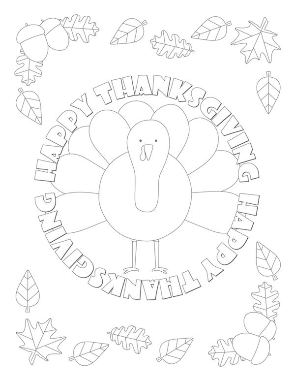 interactive thanksgiving coloring pages - photo#36