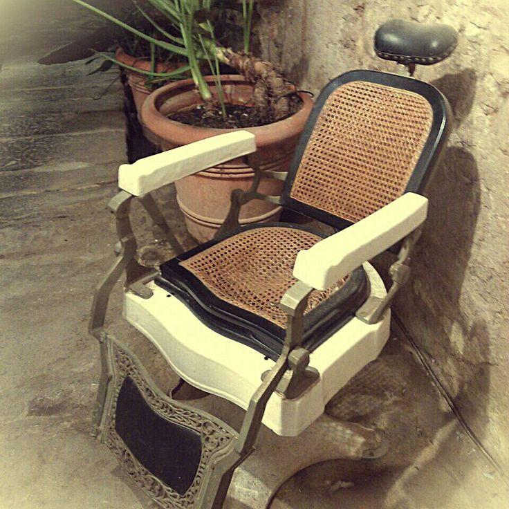 Antigua silla de barbero