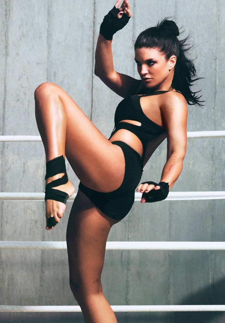 Something Nude fitness girl martial arts