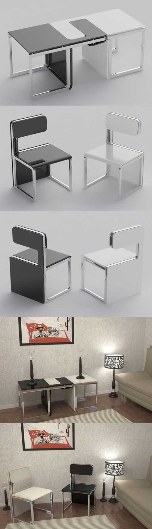 30 Awesome Multi-Functional Chairs for Your Small House https://www.futuristarchitecture.com/2682-multi-functional-chairs.html #furniture #chair